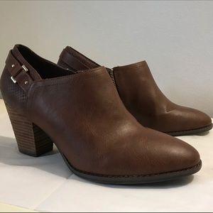 Dr Scholls brown booties size 8, 8.5
